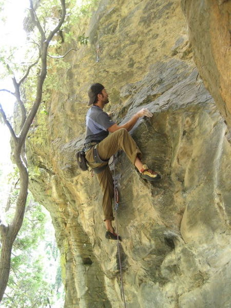 Rock Climbing Photo: Chris Prewitt on the FA.  2009