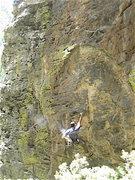 Rock Climbing Photo: Chris Prewitt on the upper part of Wing Developmen...