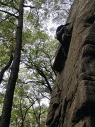 Rock Climbing Photo: Andy Hansen on pulling over the right side of the ...