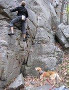 Rock Climbing Photo: Andy on Gargantua Variation.