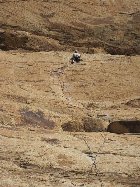 Rock Climbing Photo: Tele photo of the Flake section