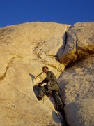 Rock Climbing Photo: Troutman in evening light on The Bong