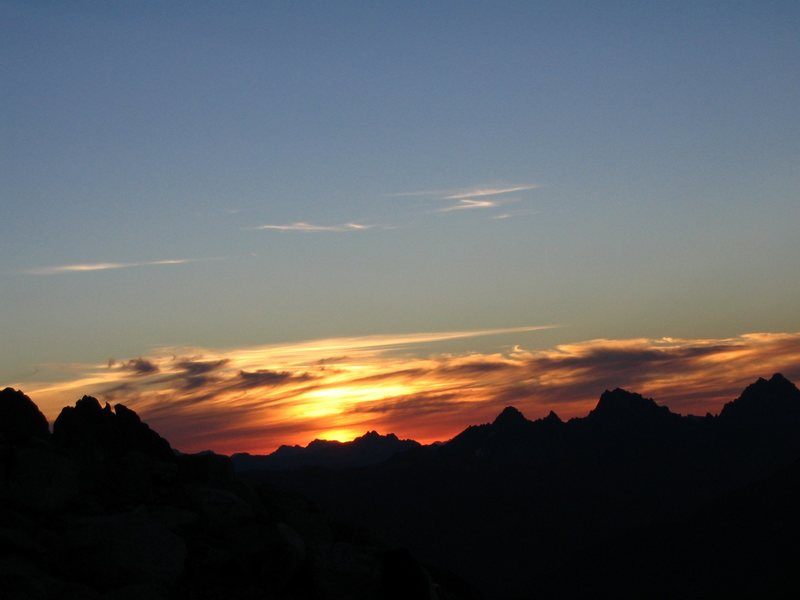 Sunset in the North Cascades NP