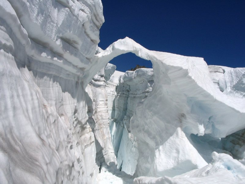 Gaping crevasse on the Inspiration Glacier, North Cascades NP