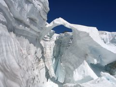 Rock Climbing Photo: Gaping crevasse on the Inspiration Glacier, North ...