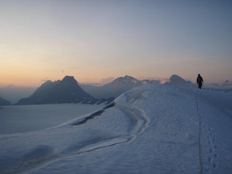 Eklutna Glacier Traverse- Beautiful Arete Peak