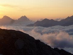Rock Climbing Photo: Sunrise Eldorado Peak North Cascades NP