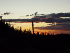 Rock Climbing Photo: Sunset from North Gate Trailhead, Mt. Shasta, Cali...