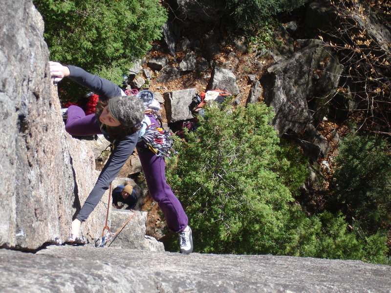 Rock Climbing Photo: Alexa in the Dihedral
