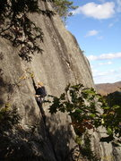 Rock Climbing Photo: Converse on P1 of Quedrephenia 30 yrs after our fr...