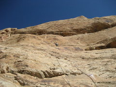 Rock Climbing Photo: Moving towards the left leaning groove