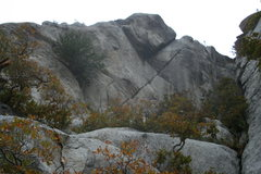 Rock Climbing Photo: Looking at the corner of Strewn Masters of Hore fr...