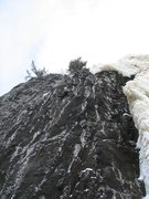 Rock Climbing Photo: Just past the crux on the FA of Resolution, but yo...