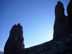 Rock Climbing Photo: The Hand is the rock formation to the left.