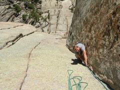 Rock Climbing Photo: Nate A on pitch 2. 10-17-09.