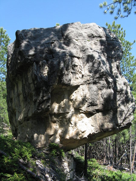 Rock Climbing Photo: Limestone boulder