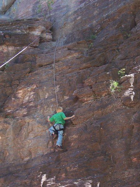 Rock Climbing Photo: Maxim McMahill on Sesame Street.