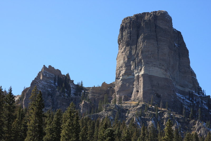 Rock Climbing Photo: Chimney Peak from the approach trail.