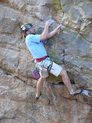 Rock Climbing Photo: Geir performing his talented cross under nut place...