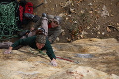 Rock Climbing Photo: The traverse of Jump Start