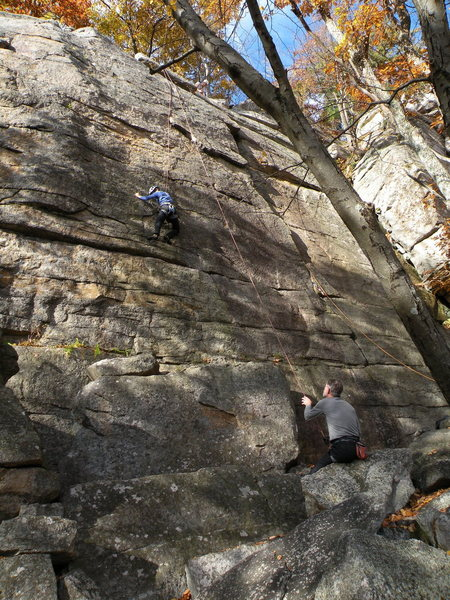 Rock Climbing Photo: Ann cruises up Phoebe on top rope