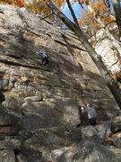 Rock Climbing Photo: Ann cruises up Phoebe on top rope