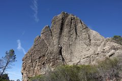 Rock Climbing Photo: Max heading up the runnel.  This shot gives a good...