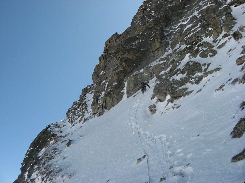 Rock Climbing Photo: Chris Sheridan leading a pitch low in the North Co...
