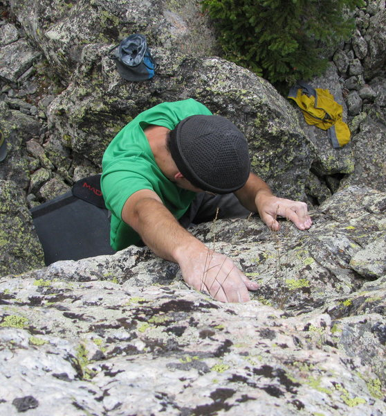 Rock Climbing Photo: Josh topping out Emerald City (Beta photo coming.....