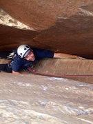 Rock Climbing Photo: 1st Chimney pitch of Epinephrine.