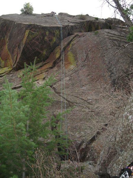 Rock Climbing Photo: Rappel on N side of W end.