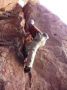 Rock Climbing Photo: Jon showing off some fine crack technique on Talia...