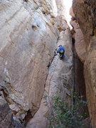 "Rock Climbing Photo: ""Guatamajala"" Joe Garcia leading Centipe..."