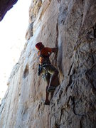 Rock Climbing Photo: David Arthur Sampson leading Centipede Corner