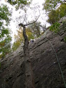 Rock Climbing Photo: Skye breezes through her 2nd lead.