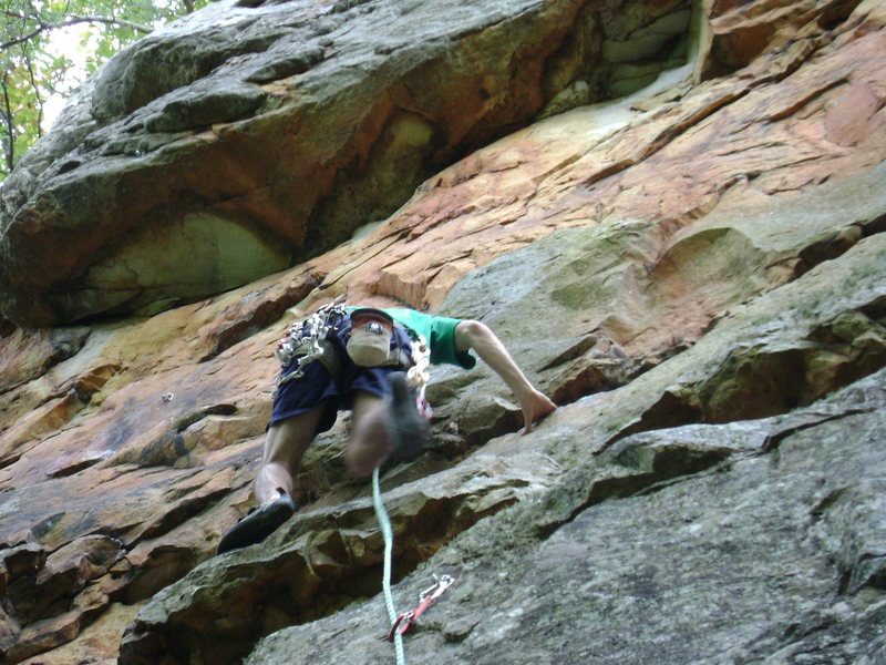 Rock Climbing Photo: making my way up the easy part