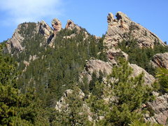 Rock Climbing Photo: From right to left, Tower of the Moon, Jam Crack S...