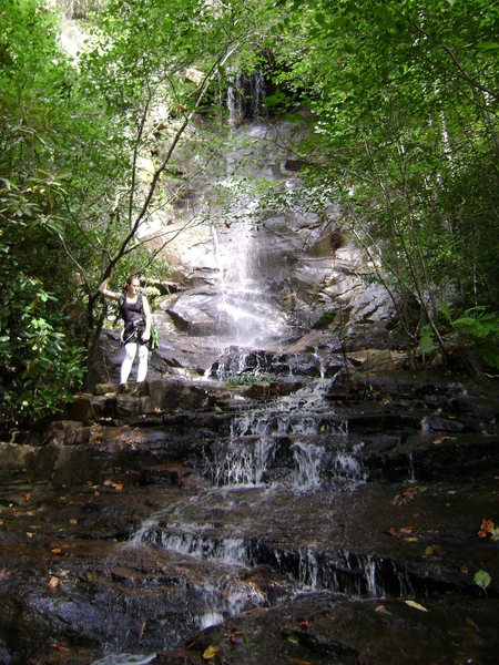 Rock Climbing Photo: Beautiful falls we passed on climbers trail less t...
