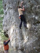 Rock Climbing Photo: Flashing the crux of The Sword...