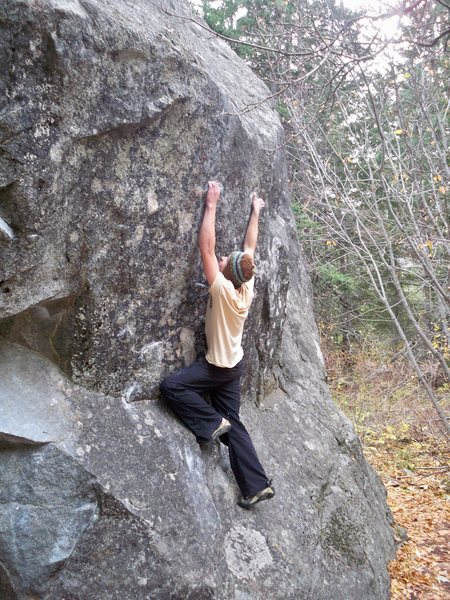 Balancing up on the crimps...