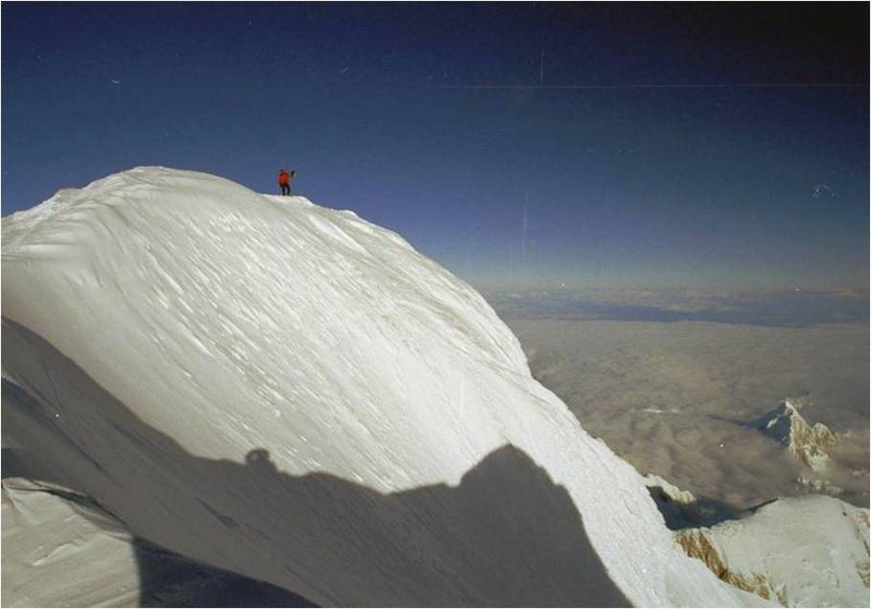 Rock Climbing Photo: On the summit.  I think that's Mt. Huntington on t...