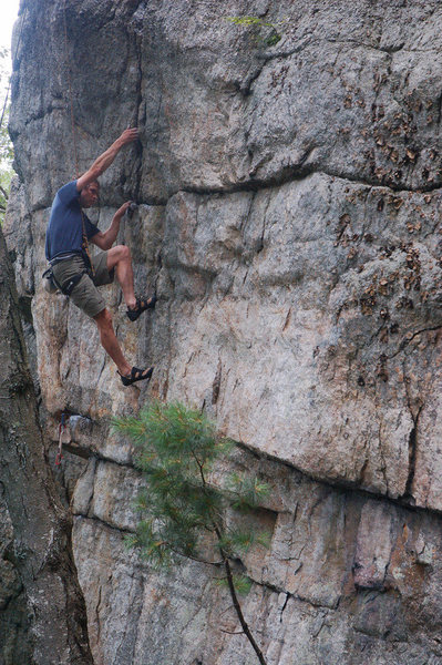 Rock Climbing Photo: In the crux(es).