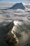 Rock Climbing Photo: The Kahiltna Peaks with Foraker in the distance, f...