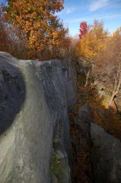 Rock Climbing Photo: A fall overview from the top of Mosquito at Breakn...