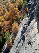 Rock Climbing Photo: pitch 2 on a late fall day...