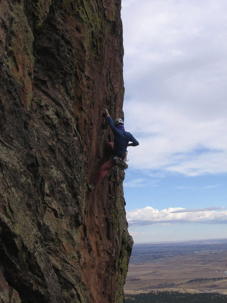 Rock Climbing Photo: Ivan Rezucha fishes out a draw for his next clip. ...