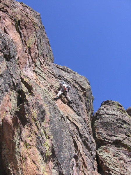 Rock Climbing Photo: Lenny Miller about midway up P.B.S.