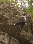 Rock Climbing Photo: In the steep stuff