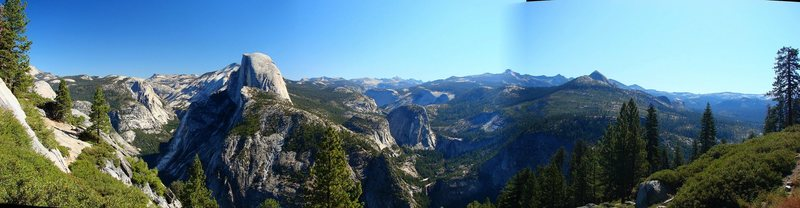 3 stitched shots from Glacier Point, September 2009.