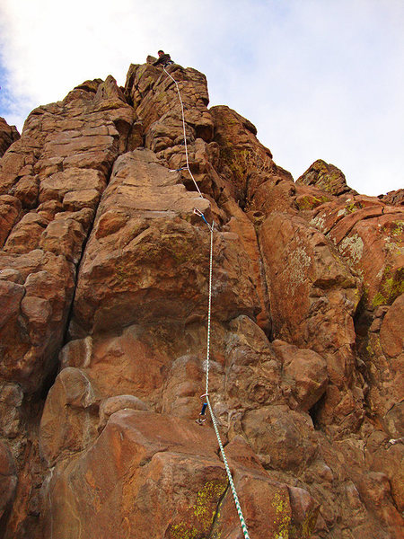 Rock Climbing Photo: Leading Wholly Holey.